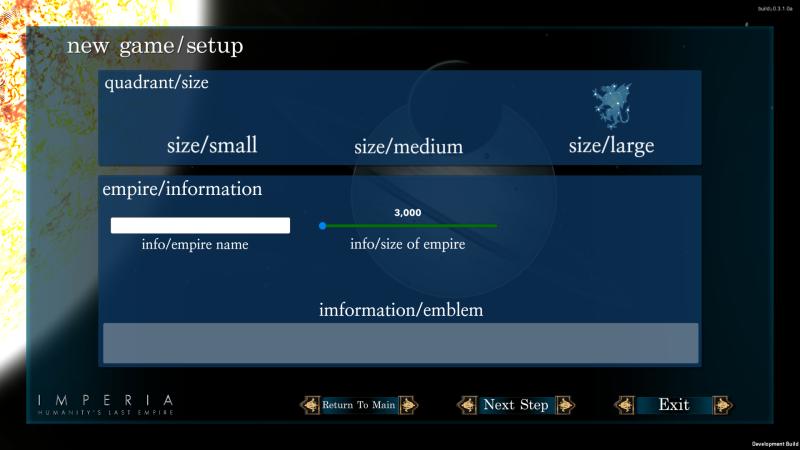 New Game Setup WIP 6.9.16